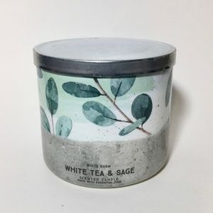 WHITE TEA & SAGE 3 Wick Candle
